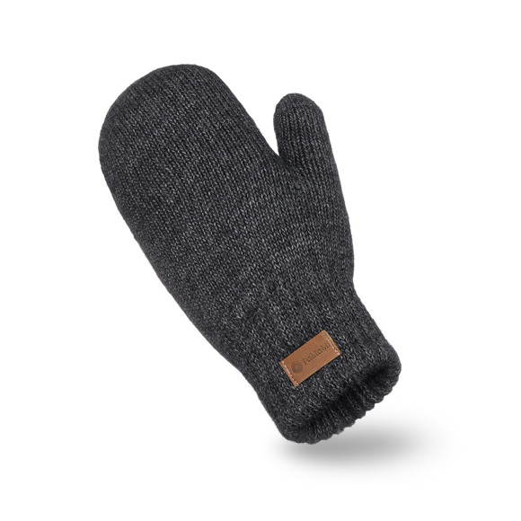 Dark grey womens' mittens