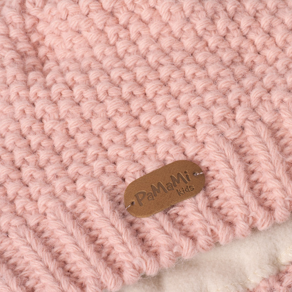 Girls' hat with pompom
